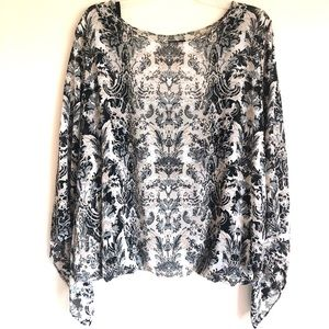 Alfani Blouse Beaded Attached Cami